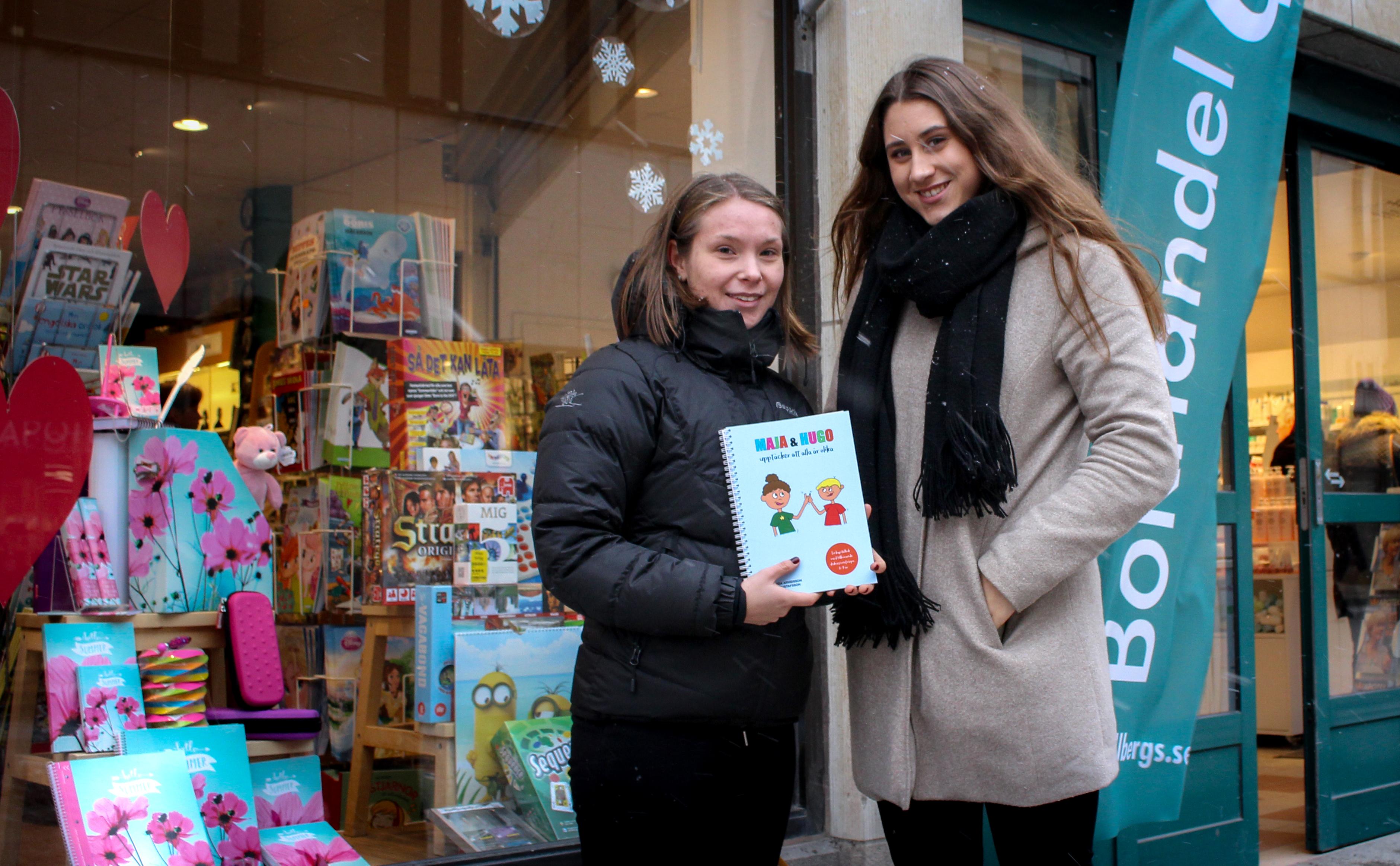 Miranda och Olivia har gjort bok mot mobbning som skolprojekt